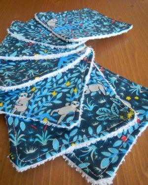 Lingettes Lavables Blue Jungle